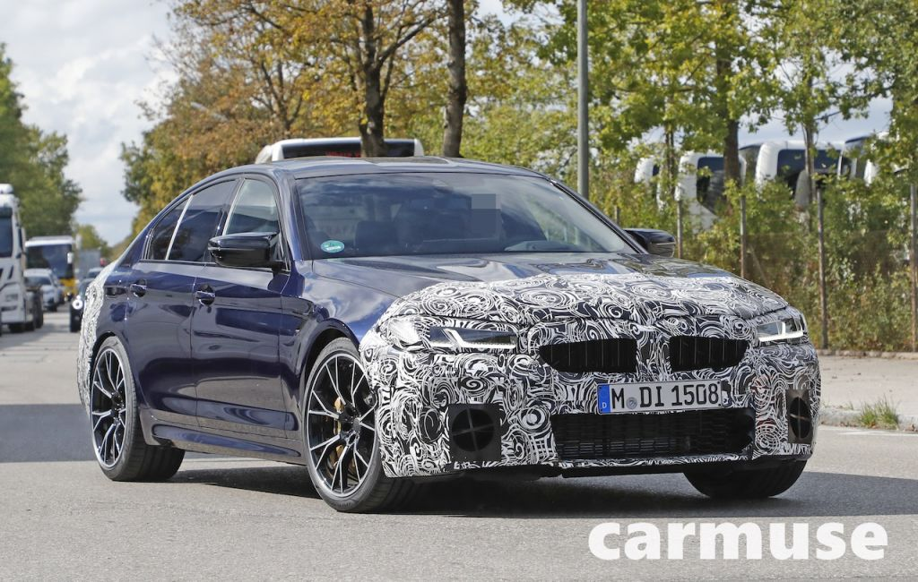 BMW M5 Facelift spy shot