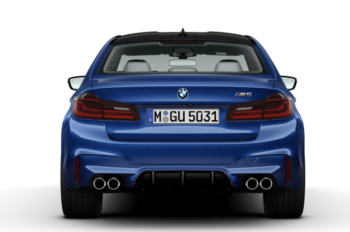 current bmw m5 sedan back photo