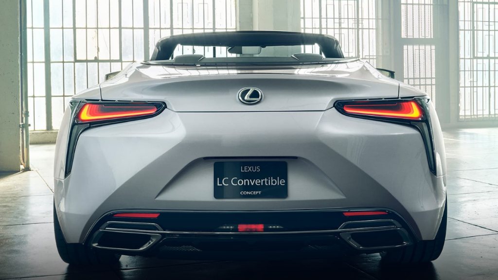 lexus lc convertible concept car photo rear