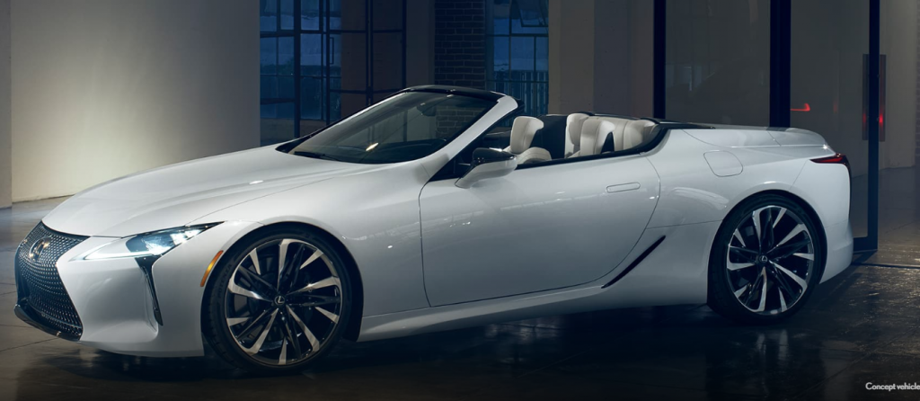 lexus lc convertible concept car photo side