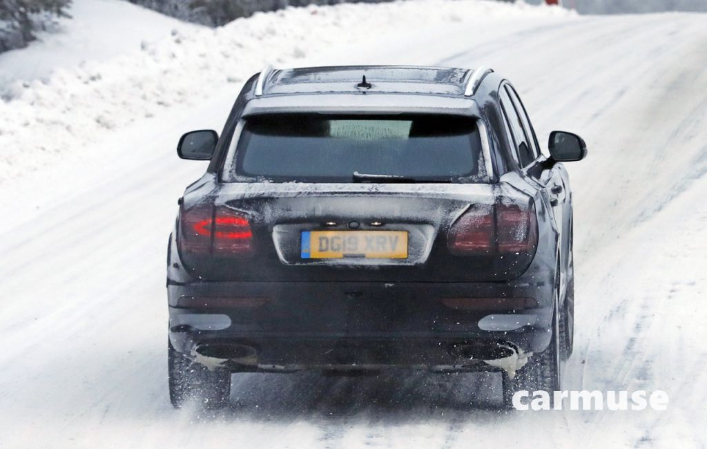 Bentley Bentayga facelift winter 18