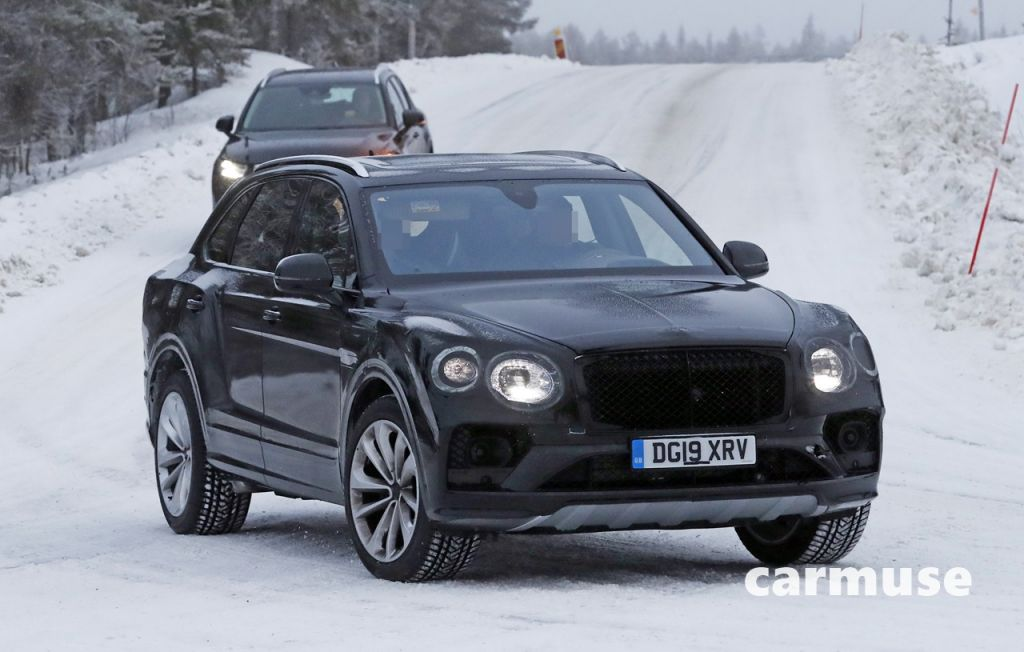 Bentley Bentayga facelift winter 2